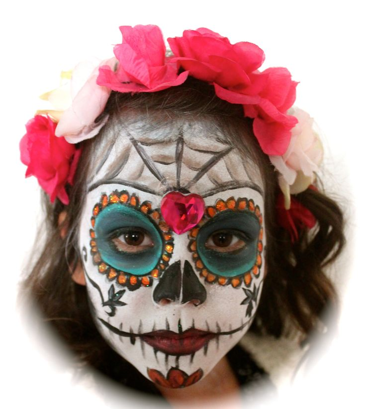 Sugar Skull CREATIVE Hair and Makeup Halloween makeup