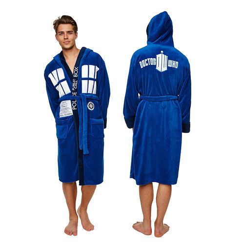 Doctor Dr Who Tardis Adult Unisex Dressing gown / bathrobe / robe (Mens fleece) in Clothes, Shoes & Accessories, Men's Clothing, Nightwear | eBay
