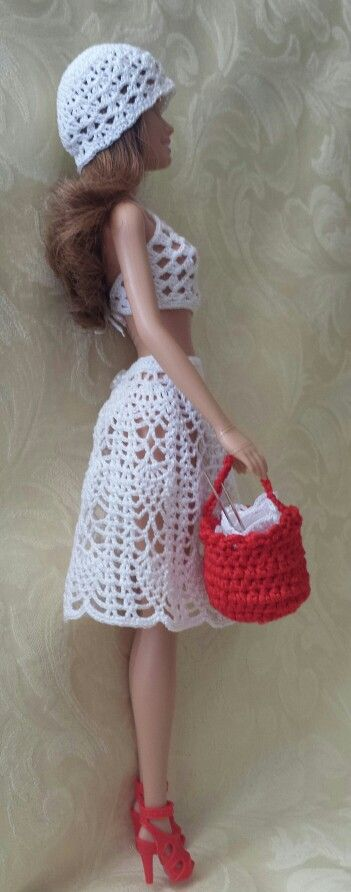 Top, Skirt, Hat & Purse - (no pattern) #