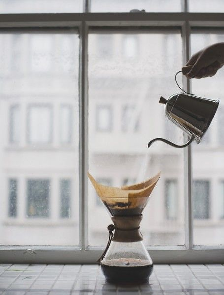 A Chemex pot, a gooseneck pouring kettle and your fresh ground coffee equals great coffee in the morning. Using the special Chemex trifold filters, you lose the bitterness and gain a smooth crisp, clean taste.