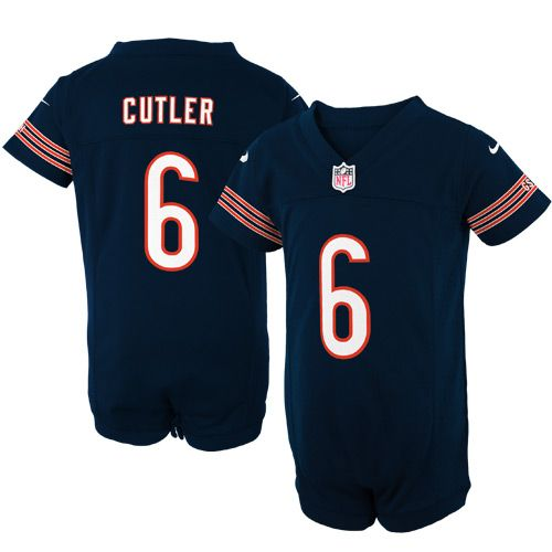 Nike Jay Cutler Chicago Bears Newborn Game Romper Jersey – Navy Blue