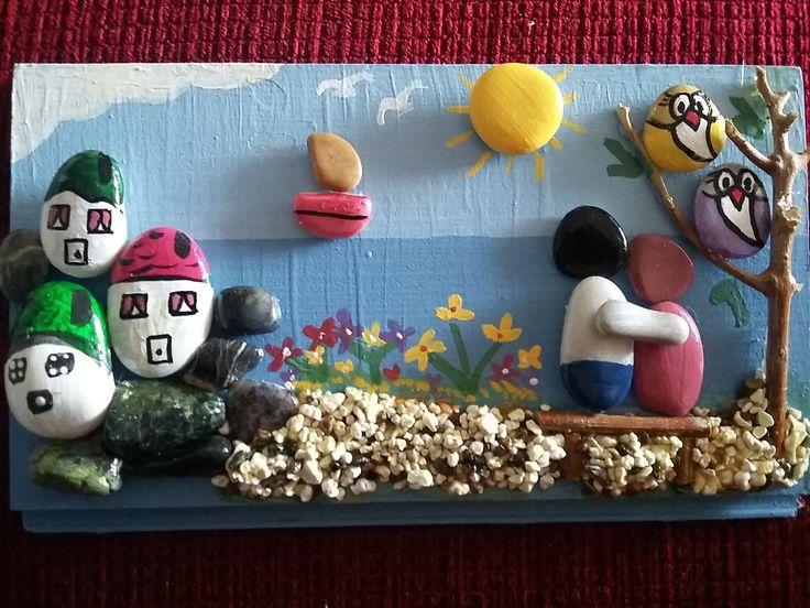Pebble tavolino ~ Best alv taş boyama pano dizayn images pebble