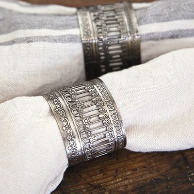 Beautiful Accessories from Pom Pom at Home, Victorian Napkin Ring #romanticliving #romanticlivingstyle #romanticlivingfurniture #romanticlivinghousedecor #lavenderfields
