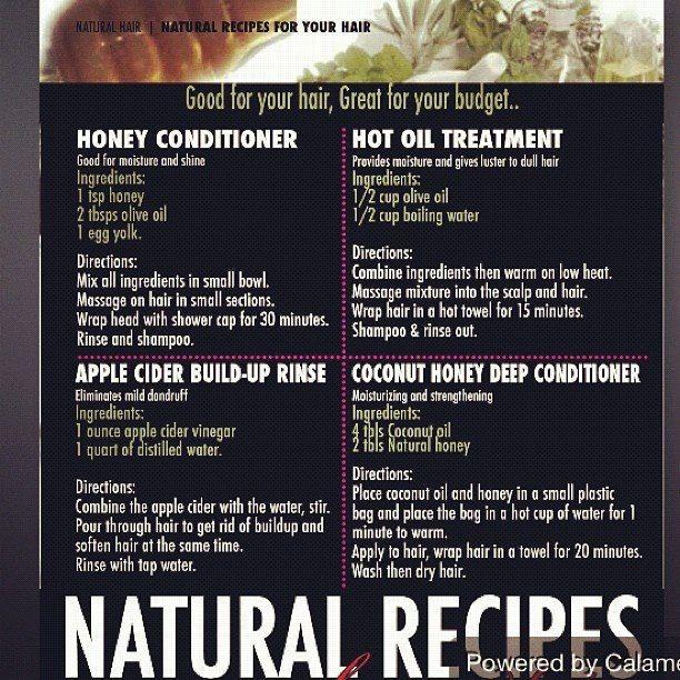 Natural hair recipes via Relaxed and Natural/Facebook