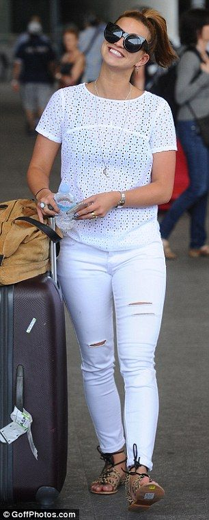 Lydia Bright and James Argent arrive in Spain with fellow TOWIE cast | Daily Mail Online