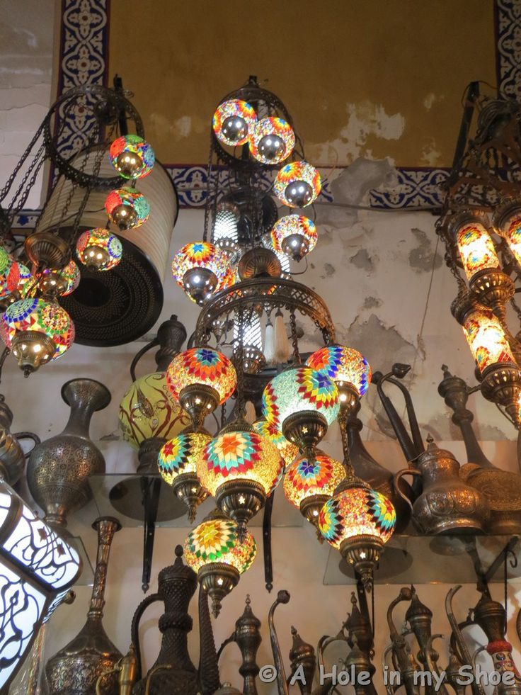 Oriental lights at the grand bazaar in Istanbul