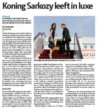 La presse internationale pointe du doigt la vie luxueuse de Sarkozy
