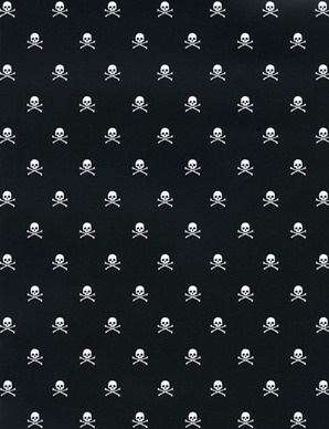 Teeny tiny skulls on pocket squares or ties for the guys