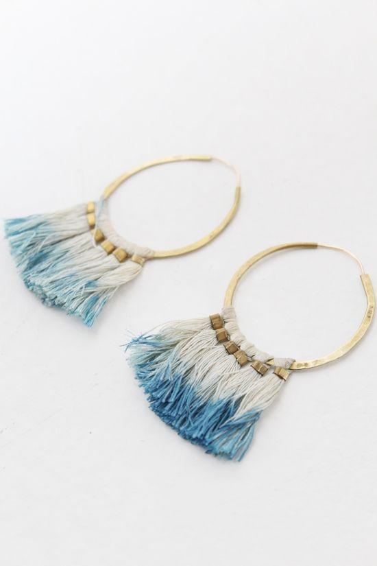 Earrings Blue Loops
