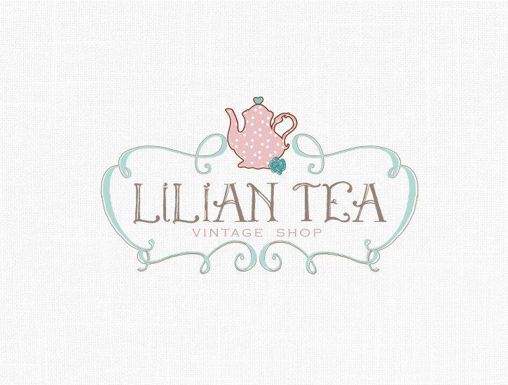 Tea Logo Design Tea Party Logo Boutique Logo Design Home