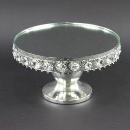 """10""""X10""""X5.6""""SILVER CAKE STAND"""