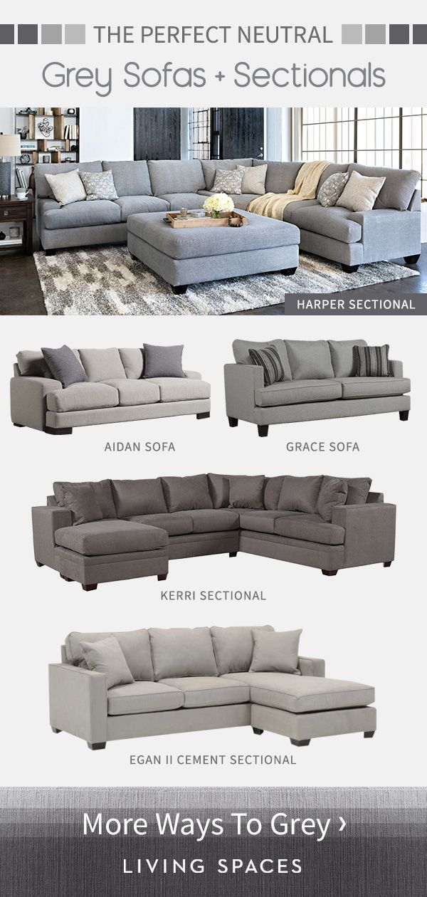 Grey Sofas Sectional Sofas Are The Perfect Neutral Piece For Any Living Room From Light Grey To Charcoal Br Couches Living Room Living Room Sectional Home