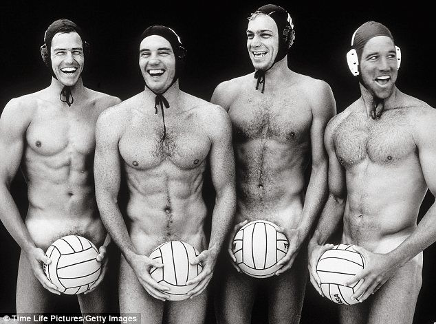 I'm dribbling! US water polo team circa 1966