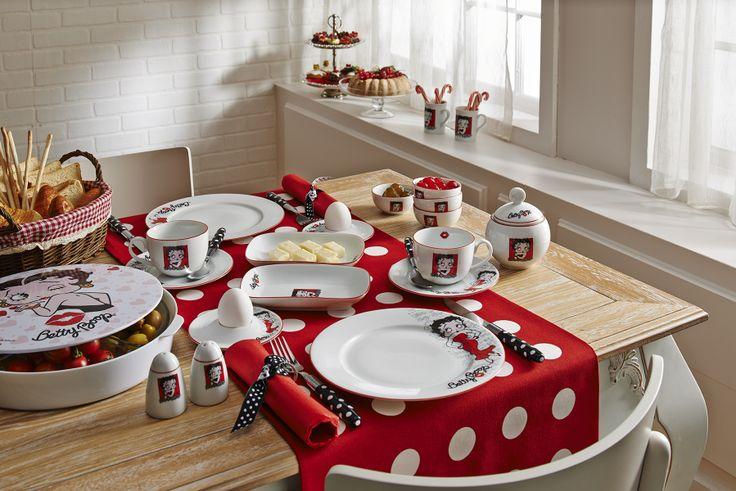 Betty Boop Kahvaltı Seti / Breakfast Set #bettyboop #bernardo #breakfast #red