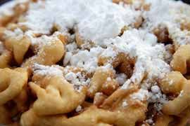 Winnnn. Homemade funnel cake recipe.