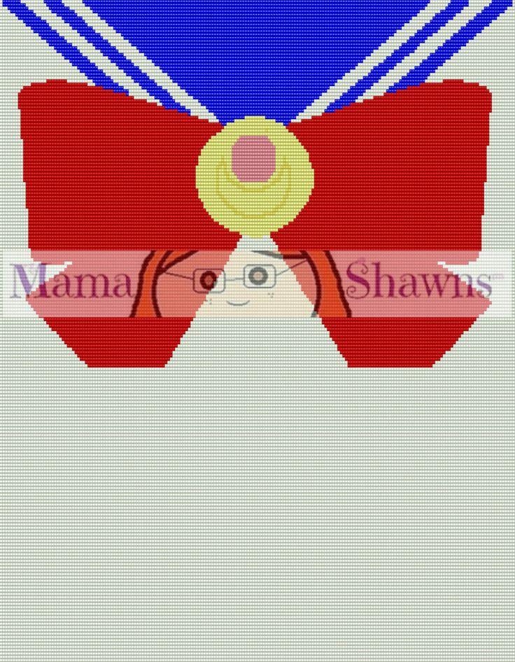 Sailor Moon Inspired Graphghan, Written Pattern, Crochet Pattern, Word Chart, PDF Download, Crochet Bedding, Anime, Fan Art by MamaShawns on Etsy