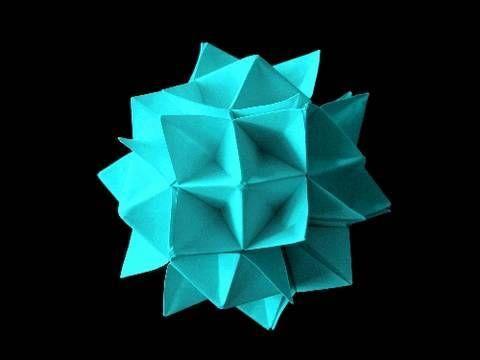 How to make an Origami Spiky Cuboctahedron aka Spike Ball