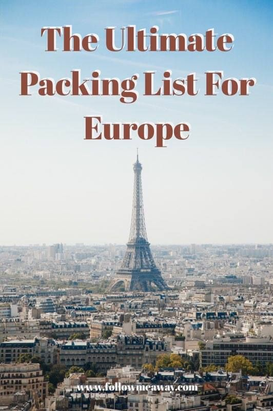 The 25+ best Packing list for europe ideas on Pinterest Europe - packing list