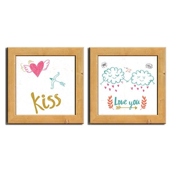 Kit Pôster Chassi Kiss Love You