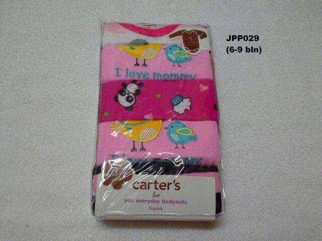 #Baju Jumper Carter Lgn Panjang (JPP029) ~ 105ribu/pak (isi 5pc) ~ Ukuran : 9M. Untuk umur : 6-9 bln. Panjang badan bayi 67-72cm (7.5-9kg)