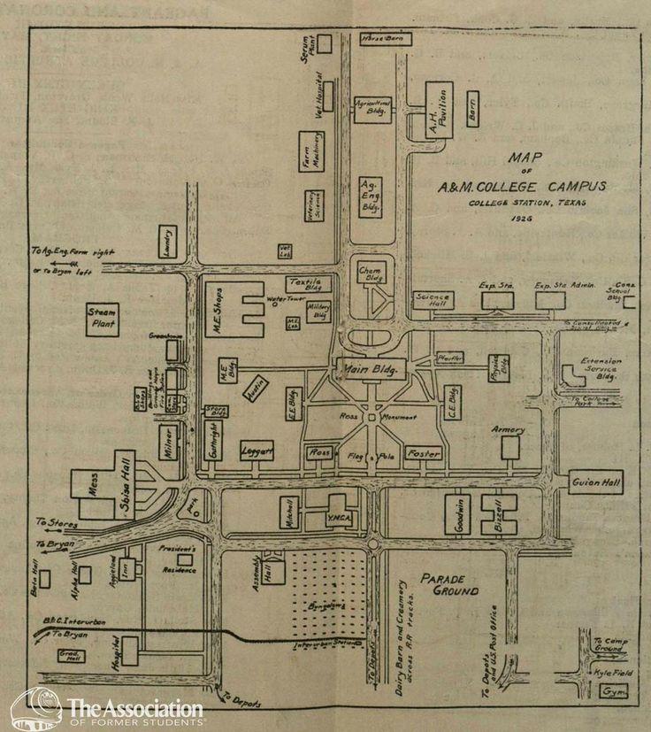 1926 Texas A&M campus map