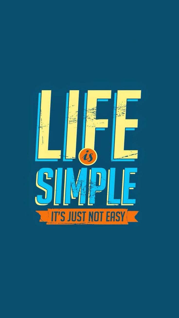Wallpaper iphone life -  Life Is Simple And Easy Lifeline Quotes Wallpaper Patternsiphone