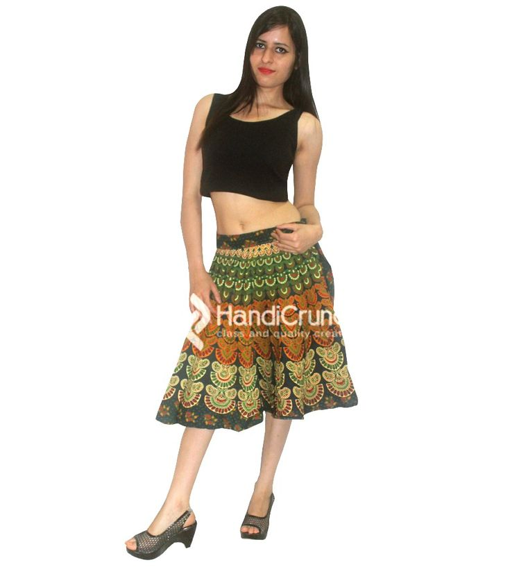 Girls mandala printed short skirt in multicolor