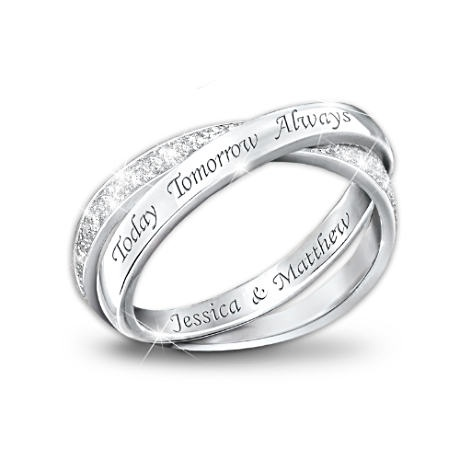 can i have it? just you know, with different names...: Names Engraving, Diamond Infinity Rings, Silver Diamonds, Diamonds Rings, Sterling Silver, Jewelry, Women'S Rings, Diamonds Infinity Rings, Promise Rings