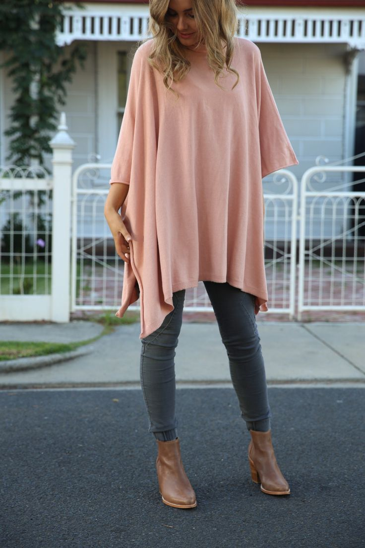 Patty Roll Neck Poncho   - Feather and Noise