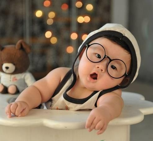asian babies wearing glasses.#Repin By:Pinterest++ for iPad#