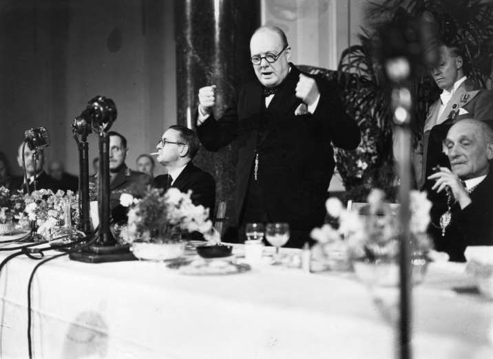 "June 18,   1940: WINSTON CHURCHILL'S FAMOUS ""THIS WAS THEIR  FINEST HOUR"" SPEECH   -  During World War II, British Prime Minister Winston Churchill urges his countrymen to conduct themselves in a manner that would prompt future generations to say, ""This was their finest hour."""