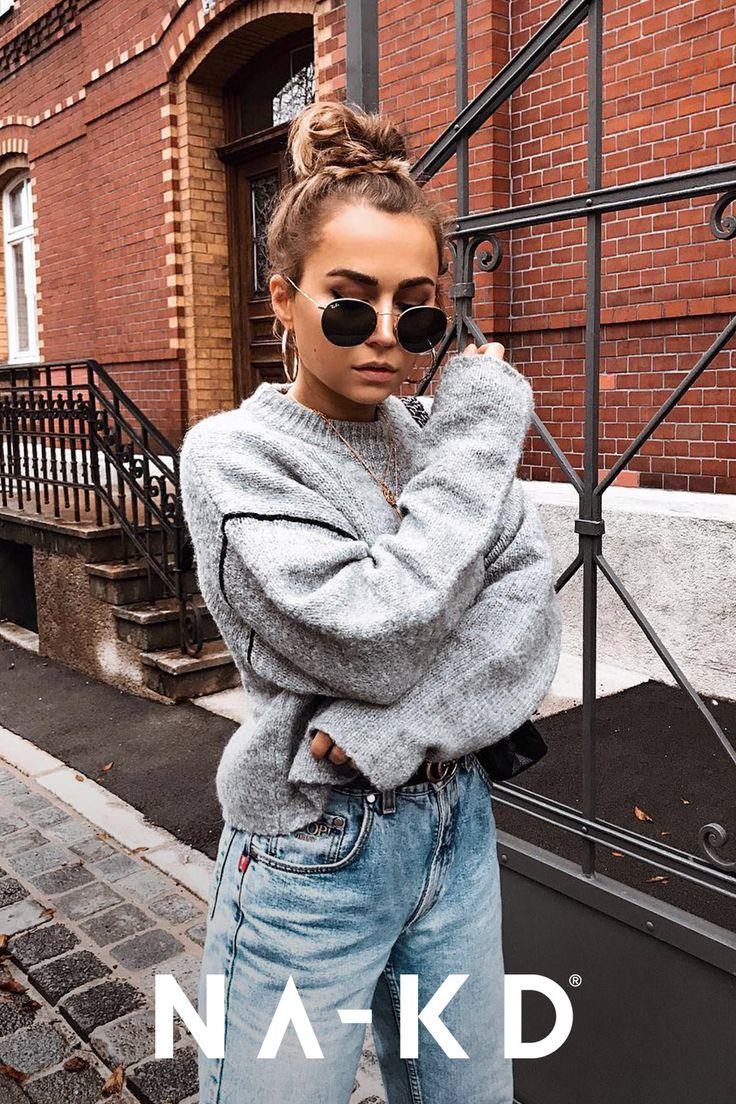 Auf der Suche nach dem perfekten Outfit? Entdecke deine neuen Lieblingsstyles bei NA-KD! Halte dich warm mit Strickpullovern von NA-KD. Kombiniert mit Jeans und dezentem Schmuck sind Pullis die besten Begleiter im Alltag. @anunanna macht euch vor, wie Strick zum casual, aber modischem Look wird.