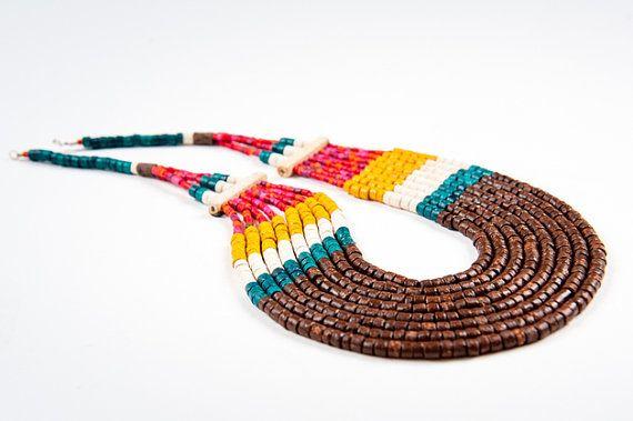 Ceramic jewellery from Colombia by KOKOworld on Etsy www.kokoworld.pl #kokoworld #handmade #necklace #beads #colombia #fairtrade
