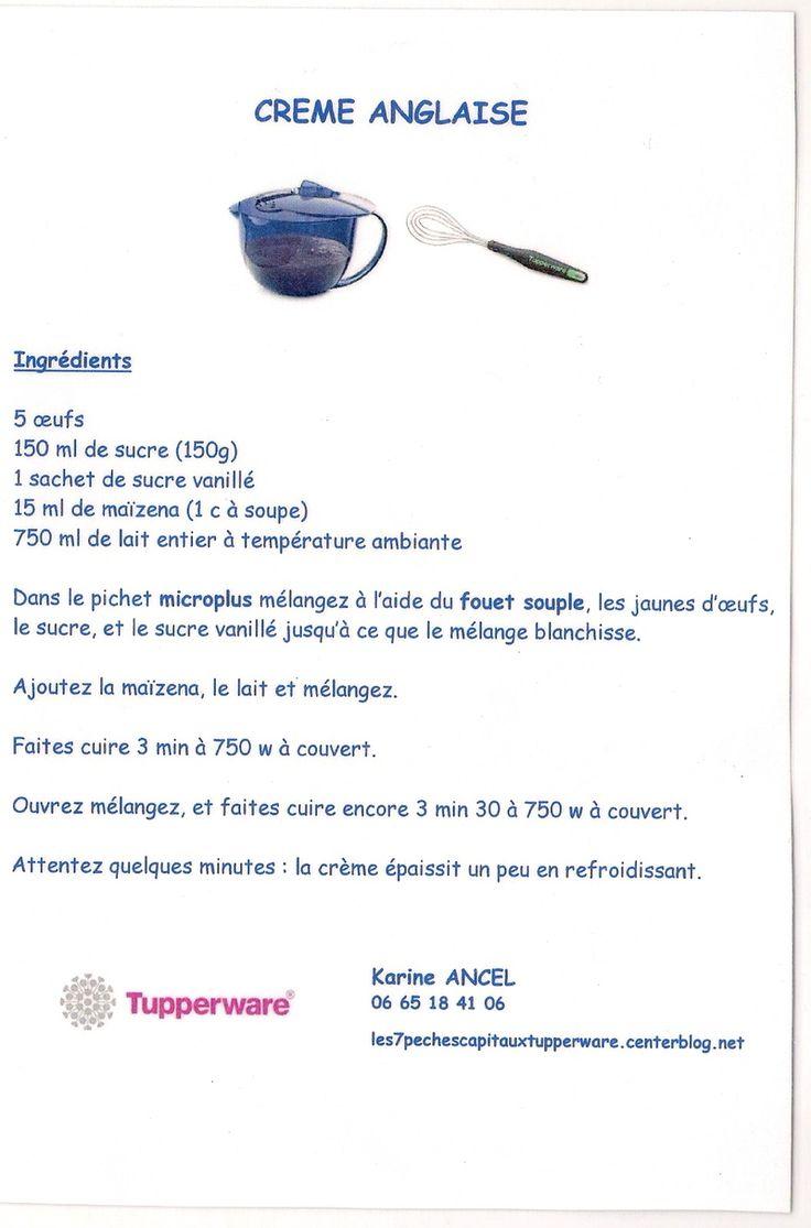Crème anglaise - Tupperware                                                                                                                                                     Plus