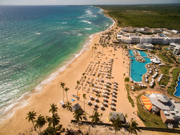 The beach at Nickelodeon Hotels & Resorts Punta Cana in the Dominican Republic