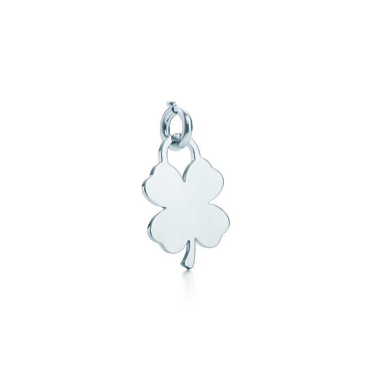Four-leaf clover tag charm in sterling silver. | Tiffany & Co.