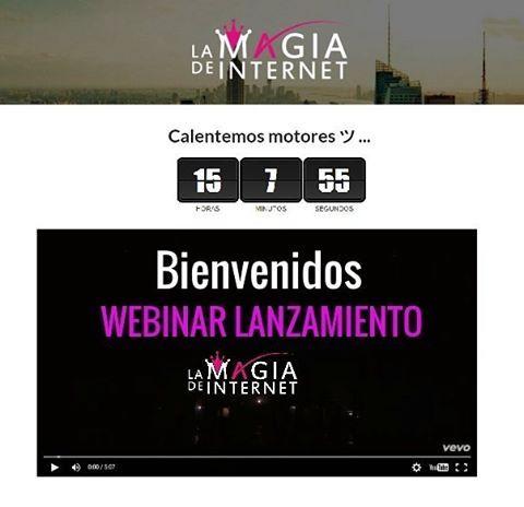 La cuenta atrás está en marcha!! Mañana es el gran día! Estaremos de Lanzamiento de #LaMagiaDeInternet a las 12h. ¿Ya tienes tu invitación? ¡¿No?! Pues no tardes más, no te lo puedes perder y cada vez quedan menos plazas.  Entra en javieryeva.com y consigue tu invitación para mañana.  #javieryeva #DiseñaTuMapa #webinar #online #gratuita #lanzamiento #cuentaatras #esmomento #notelopierdas #emprendedores #pasoapaso #formacion #invitacion