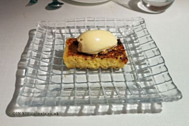 Torrija con mantecado (French toast), Askua, Valencia