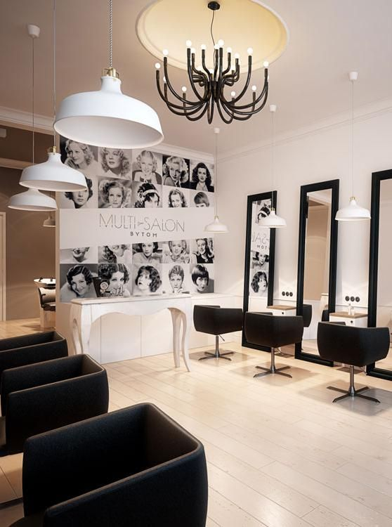 Hairdresser interior design in bytom poland archi group for Beauty salon designs for interior