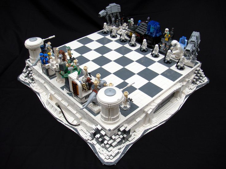 Lego The Empire Strikes Back chess set, created by Brandon Griffith.