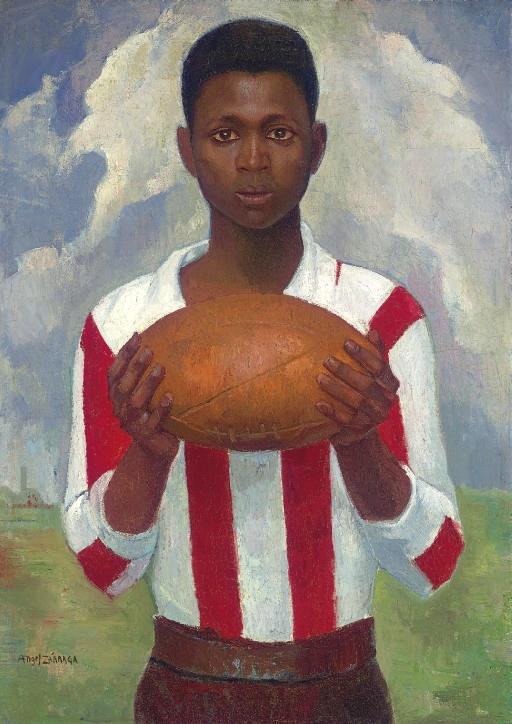 Angel Zarraga (1886 - 1946), portrait of a rugby player