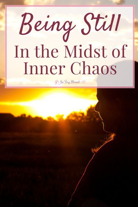 It is so hard to be still in the midst of stress, jumbled thoughts, and overwhelming emotions. This is how I find calm in the middle of the storm.
