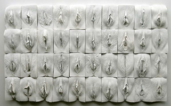 """Great Wall of Vagina"" by Jamie McCartney. Vulva would be more accurate, but what the heck, it's still awesome!"