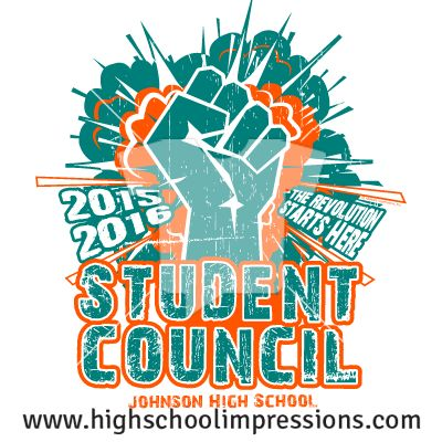 High School Impressions: Senior T-Shirts, Custom Student Council T Shirts, DECA, FBLA, High School Club TShirts - Create your own design for t-shirts, hoodies, sweatshirts. Choose your Text, Ink and Garment Colors. SC-010-w