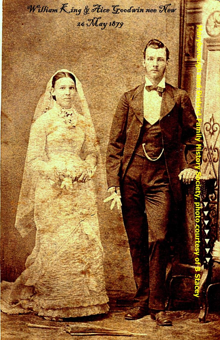 William King and Alice Goodwin nee New. 26 May 1879