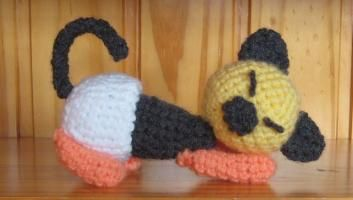 amigurumi, chat, crochet, bébé, amineko