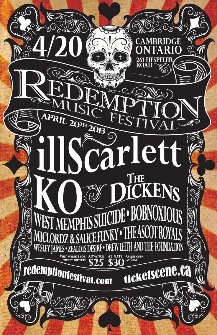 Poster design music - Redemption Music Festival Poster