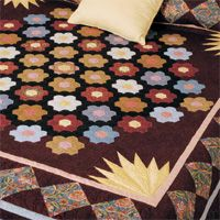 This bonus quilt is to make Jewels of the Garden as seen in the September/October issue of Love of Quilting. Gail Kessler's quilt is a reproduction of a late nineteenth   century quilt from the collection of the Winterthur Museum in Wilmington, Delaware.