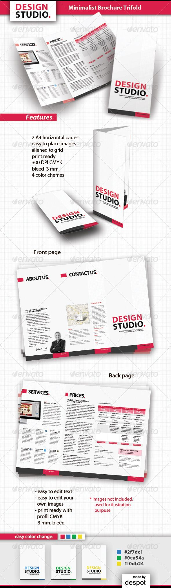 Minimalist Brochure Trifold by despotdesign