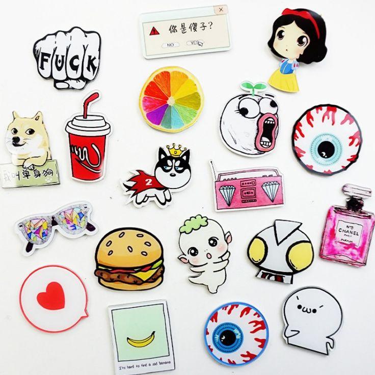 1 Pcs 24 Style Cartoon Girl Cake Acrylic Fridge Magnets Whiteboard Sticker Refrigerator Magnets Kids Gifts Home Decoration